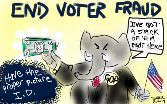END VOTER FRAUD
