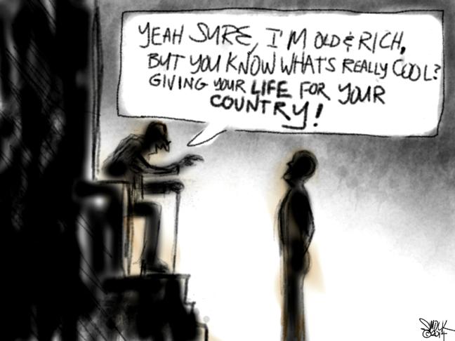 an editorial cartoon by J